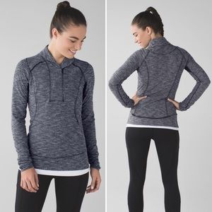 Lululemon Think Fast Pullover Sweater Top 2 Gray